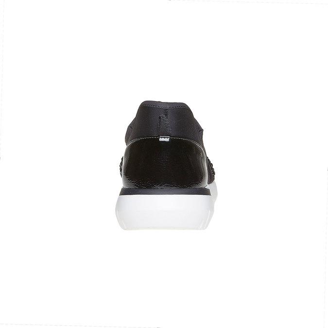 Slip-on femme avec petites pierres dans le style sportif north-star, Noir, 549-6258 - 17
