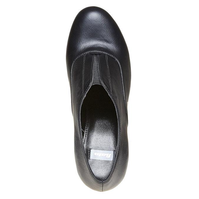 Chaussure lacée femme à talon haut bata, Noir, 721-6289 - 19