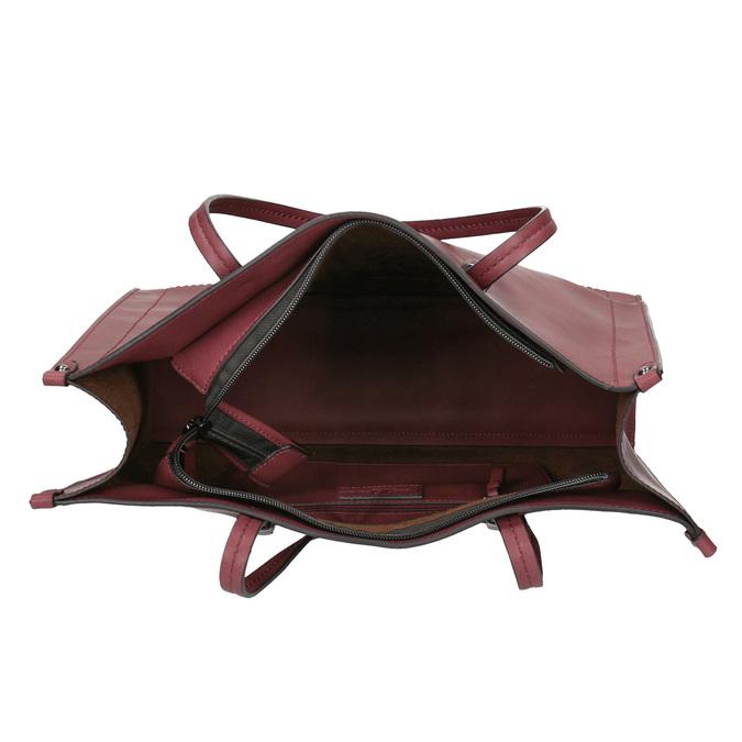 Sac à main femme de style Shopping bata, Rouge, 961-0736 - 15