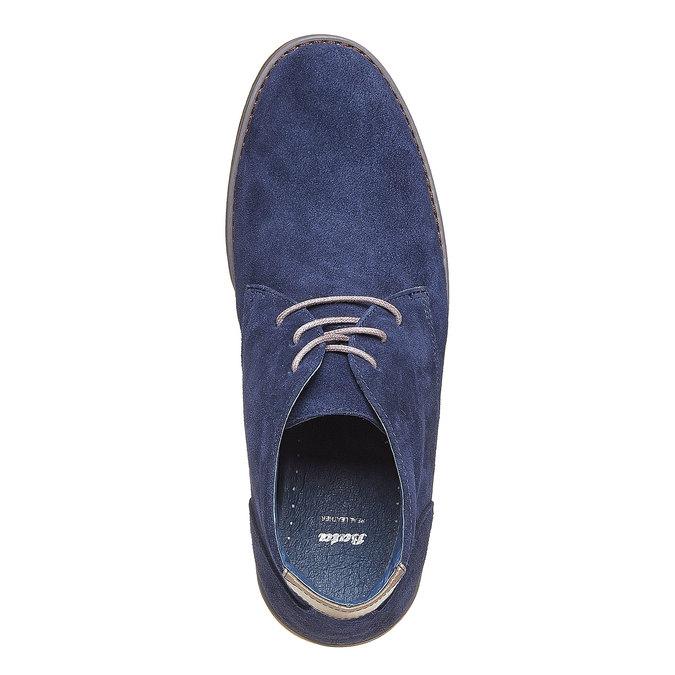 Chukka Boots en cuir homme bata, Bleu, 843-9380 - 19