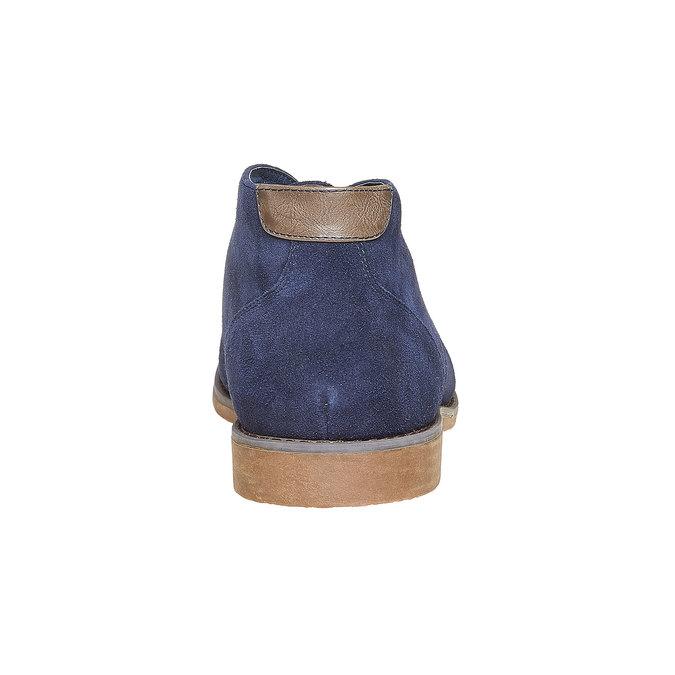 Chukka Boots en cuir homme bata, Bleu, 843-9380 - 17
