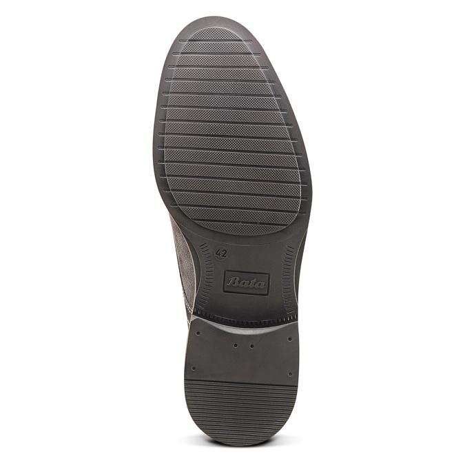 Chaussure décontractée en cuir bata, Gris, 823-2608 - 17