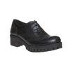Chaussure lacée en cuir pour femme bata, Noir, 524-6165 - 13