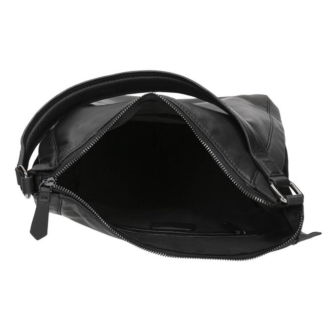 Sac Hobo en cuir noir bata, Noir, 964-6254 - 15