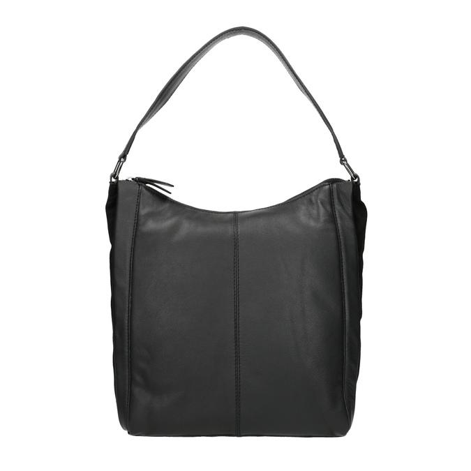 Sac Hobo en cuir noir bata, Noir, 964-6254 - 26
