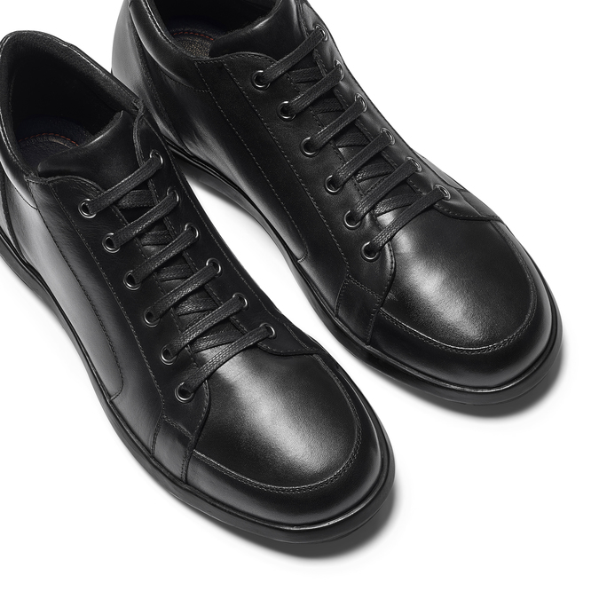 Tennis en cuir noir flexible, Noir, 844-6205 - 26
