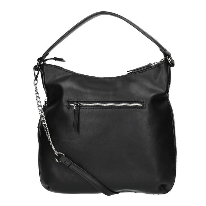 Sac Hobo avec zip décoratif bata, Noir, 961-6609 - 19