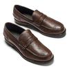 Loafer en cuir homme bata, Brun, 814-4128 - 19