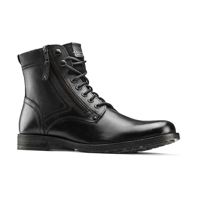 Bottine en cuir bata, Noir, 894-6449 - 13