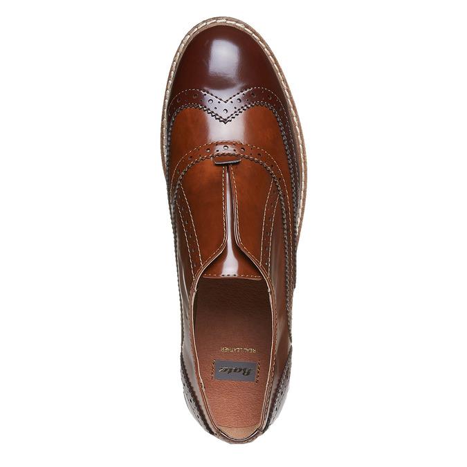 Chaussure basse vernie pour femme bata, Brun, 511-3194 - 19