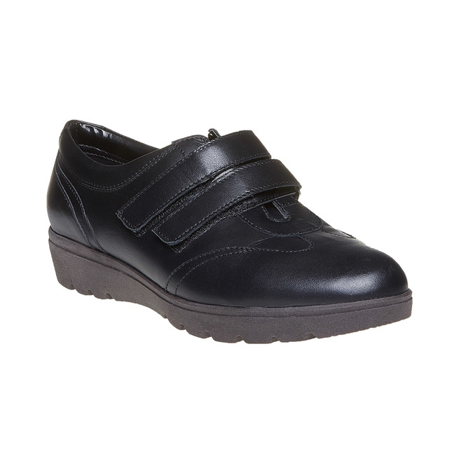 Chaussure femme en cuir avec boucles sundrops, Noir, 524-6357 - 13