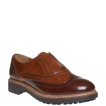 Chaussure basse vernie pour femme bata, Brun, 511-3194 - 13