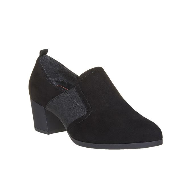 Chaussure à talon en cuir flexible, Noir, 613-6111 - 13