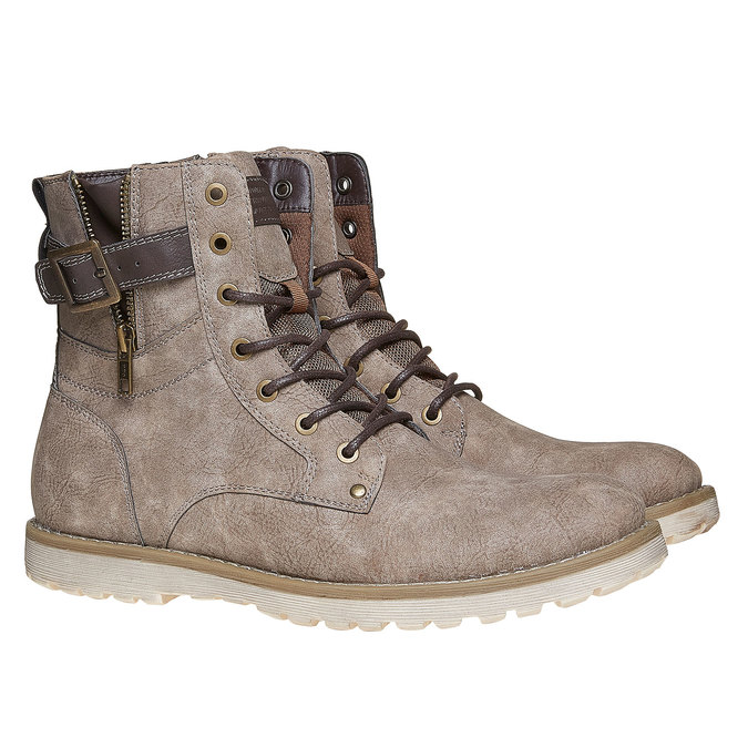 Chaussure montante homme bata, Gris, 891-2237 - 26