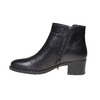 Bottines en cuir bata, Noir, 694-6166 - 19