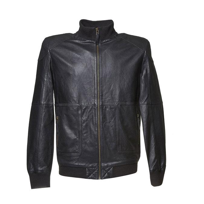 Veste en cuir pour homme bata, Noir, 974-6149 - 13