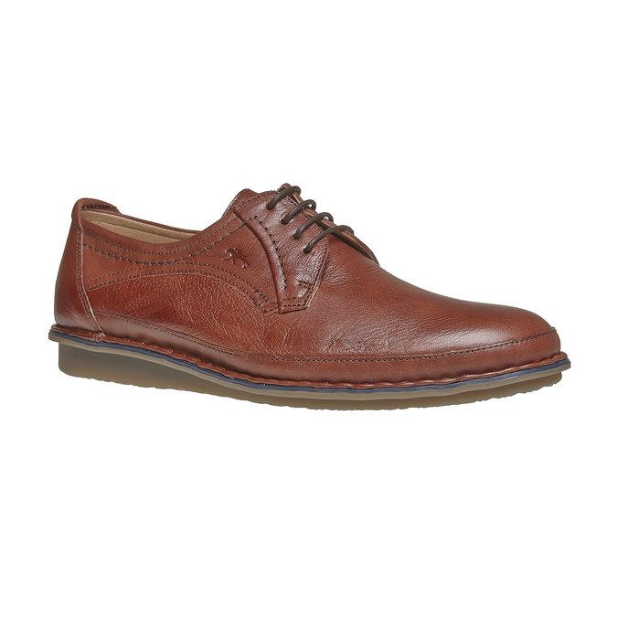 Chaussure lacée décontractée en cuir fluchos, Brun, 824-3866 - 13