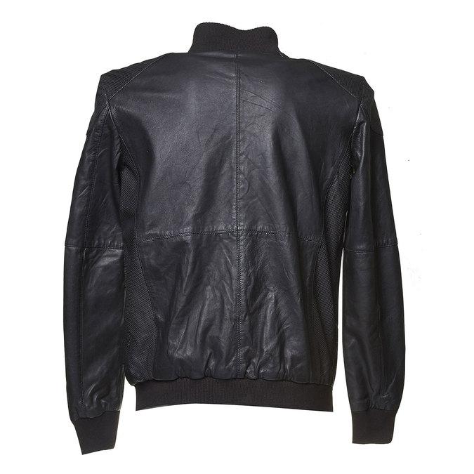 Veste en cuir pour homme bata, Noir, 974-6149 - 26