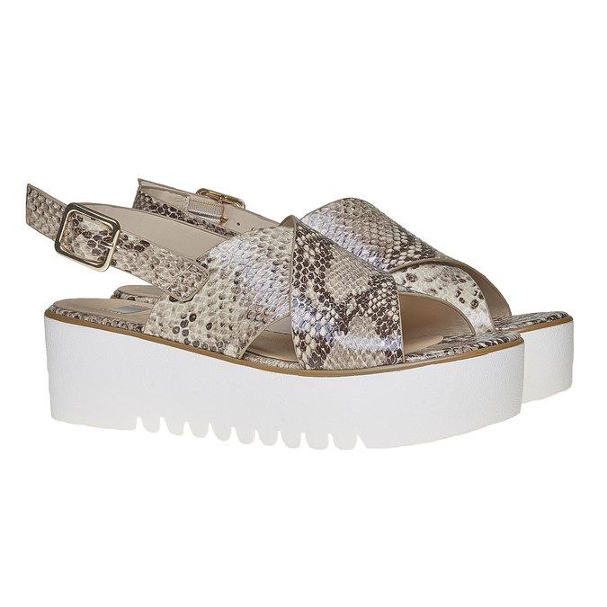 Sandale à semelle épaisse bata, Jaune, 661-8144 - 26