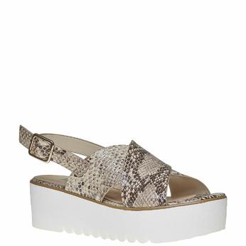 Sandale à semelle épaisse bata, Jaune, 661-8144 - 13