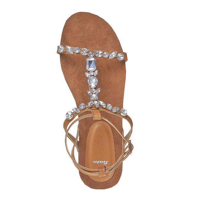 Sandale femme avec petites pierres bata, Brun, 561-3380 - 19