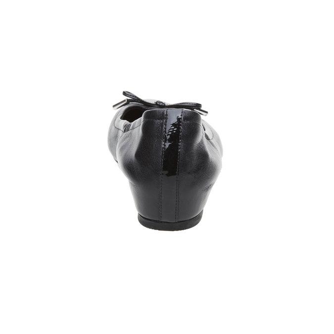 Ballerine noire en cuir rockport, Noir, 524-6121 - 17