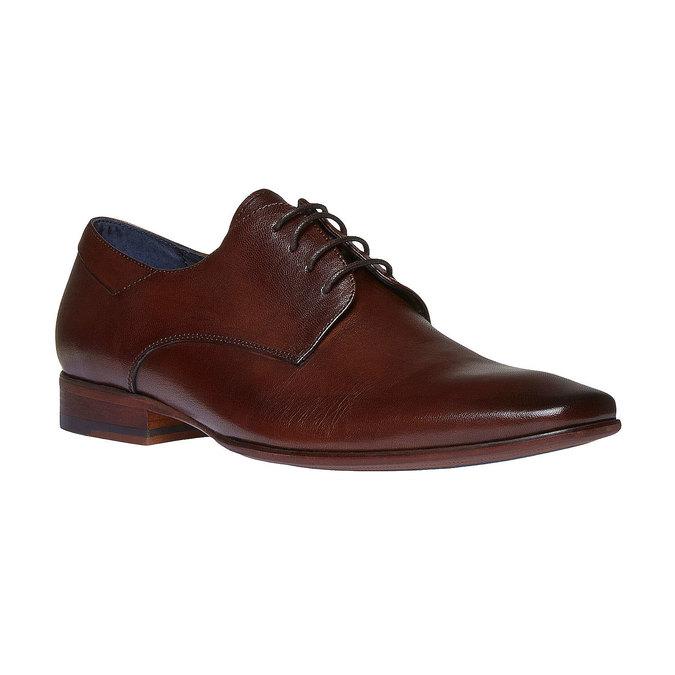 Chaussure lacée Derby en cuir bata, Brun, 824-4536 - 13
