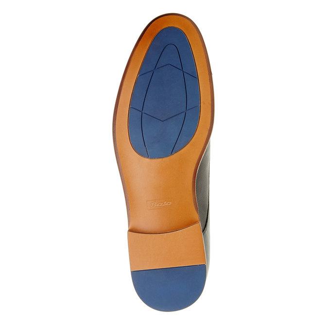 Chaussure lacée Derby en cuir pour homme bata, Bleu, 824-9551 - 26