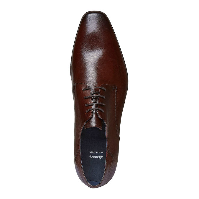 Chaussure lacée Derby en cuir bata, Brun, 824-4536 - 19