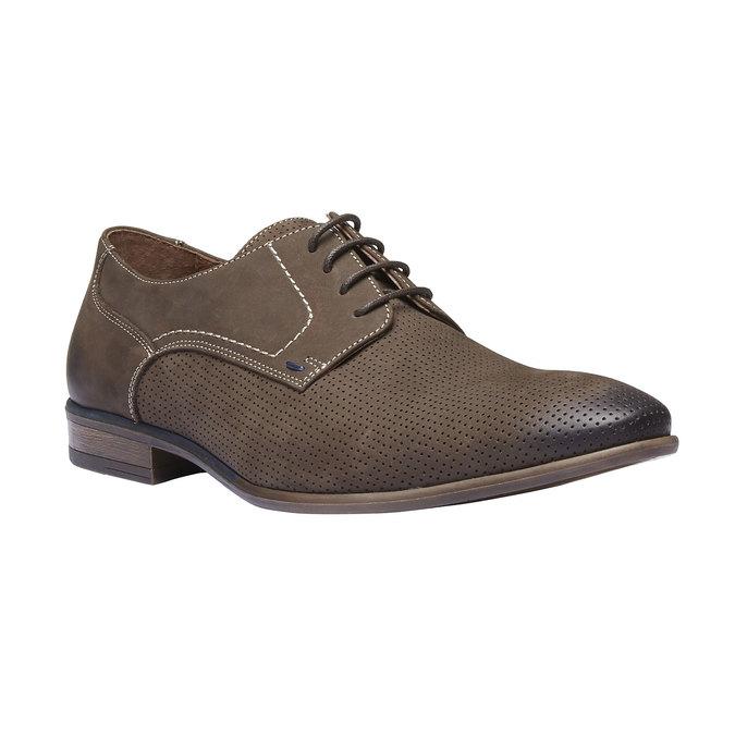 Chaussure lacée en cuir perforé pour homme bata, Brun, 826-4832 - 13