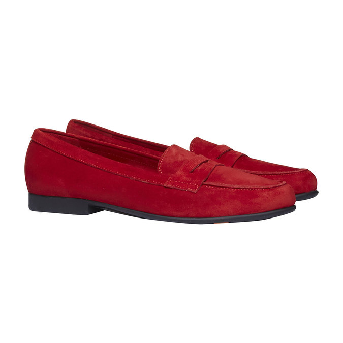 Penny Loafers en cuir flexible, Rouge, 513-5196 - 26