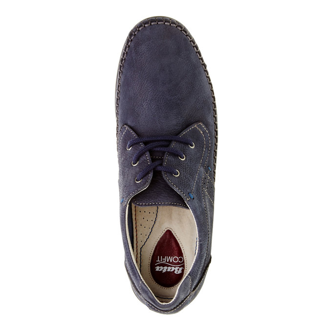 Chaussure lacée décontractée en cuir, Violet, 856-9183 - 19