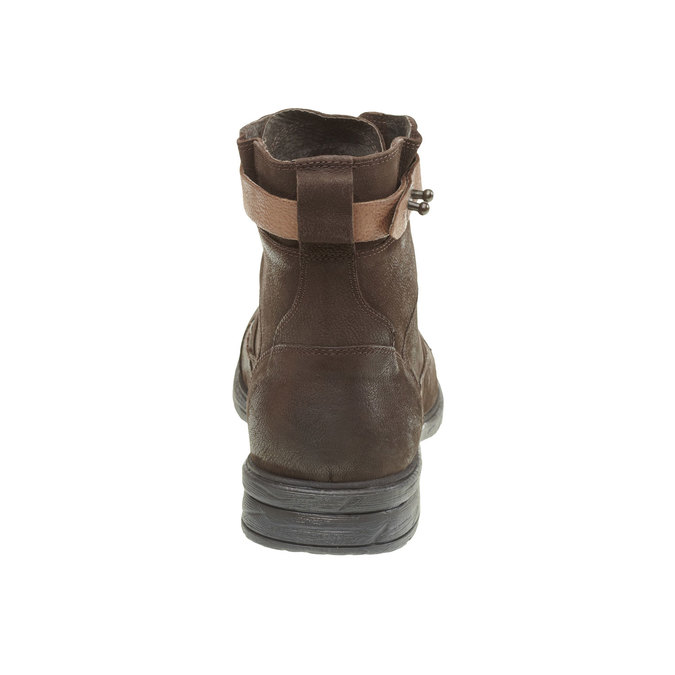 Bottine en cuir bata, Brun, 894-4165 - 17