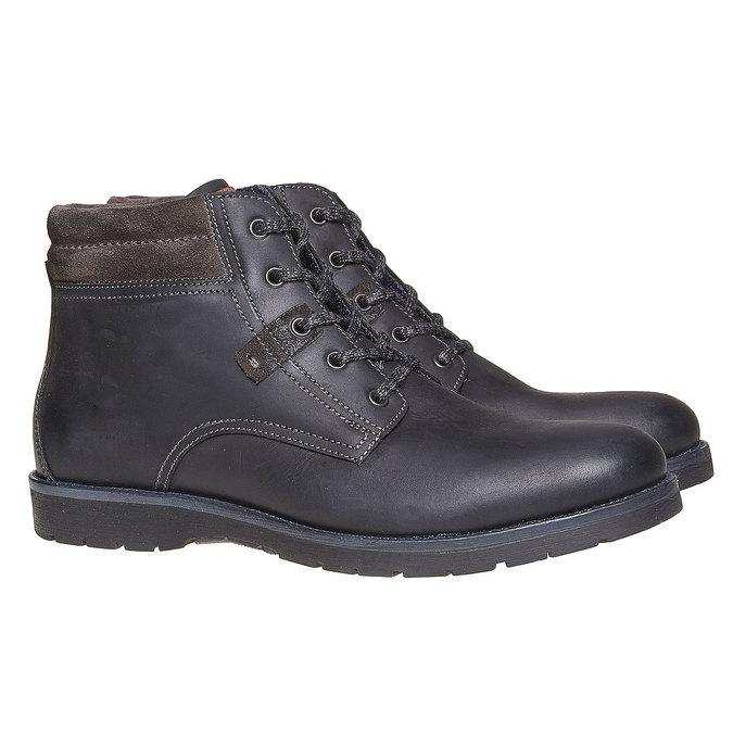 Chaussure montante pour homme bata, Noir, 894-6281 - 26