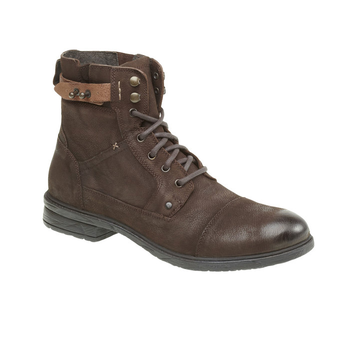 Bottine en cuir bata, Brun, 894-4165 - 13
