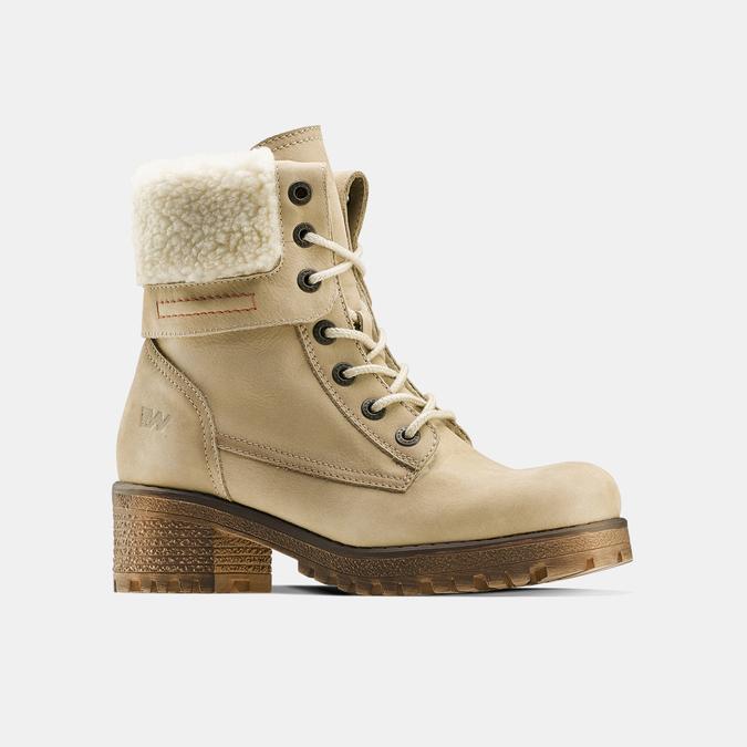 Chaussure d'hiver en cuir avec fausse fourrure weinbrenner, Jaune, 696-8168 - 13