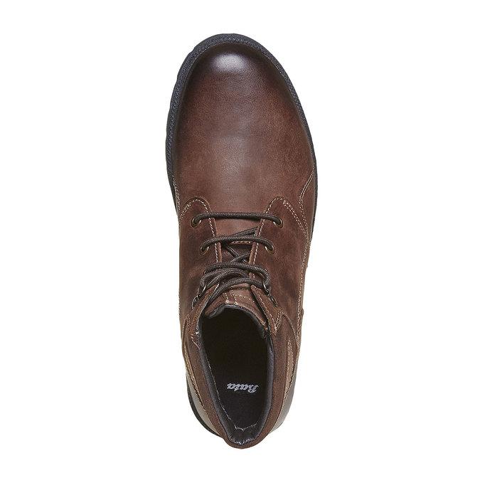 Chaussure montante en cuir pour homme bata, Brun, 896-4638 - 19