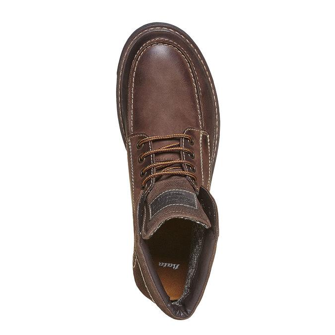 Chaussure montante en cuir pour homme bata, Brun, 896-4687 - 19