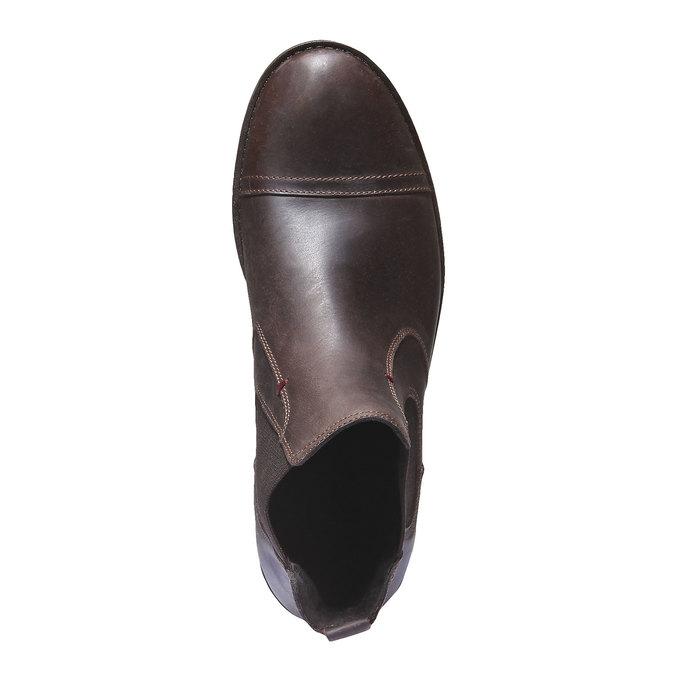 Bottines en cuir de style Chelsea bata, Brun, 894-4197 - 19