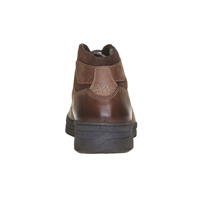 Chaussure montante en cuir pour homme bata, Brun, 896-4638 - 17