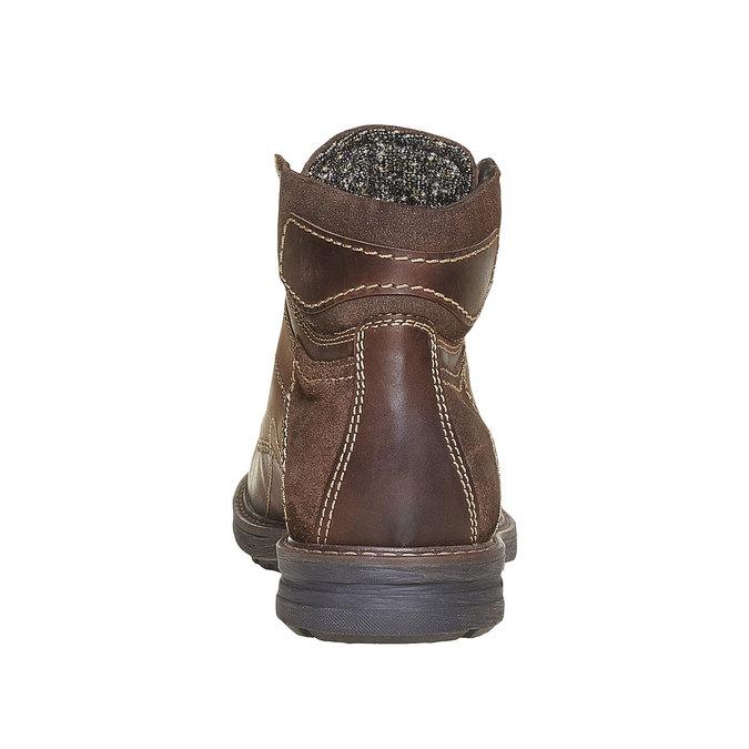 Chaussure montante en cuir pour homme bata, Brun, 896-4687 - 17