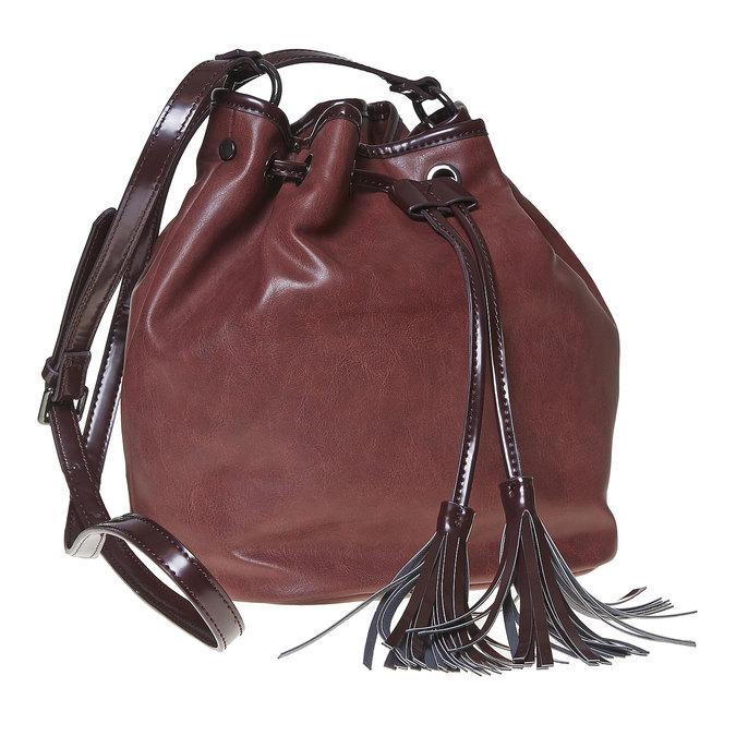 Sac à main Bucket bag bata, Rouge, 961-5884 - 13