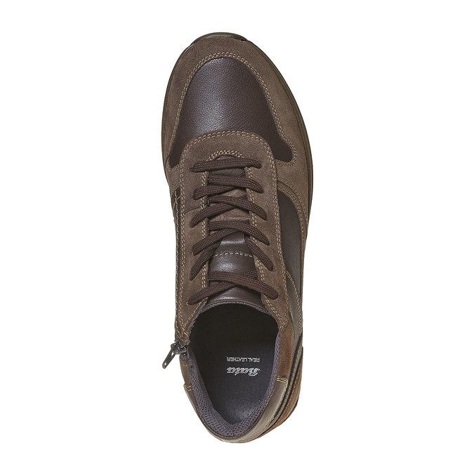 Tennis en cuir pour homme bata, Brun, 894-4697 - 19