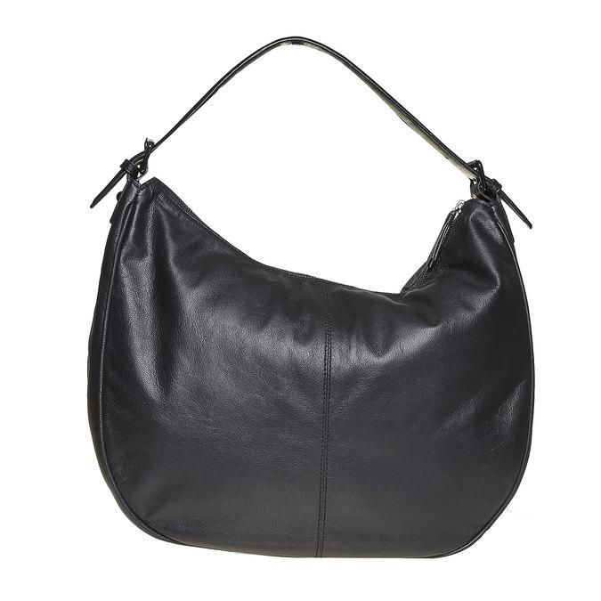 Sac à main en cuir dans le style Hobo bata, Noir, 964-6249 - 17