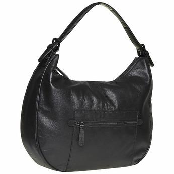 Sac à main en cuir dans le style Hobo bata, Noir, 964-6249 - 13