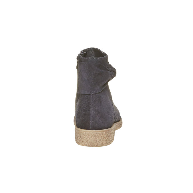 Botte en cuir femme bata, Noir, 593-6115 - 17