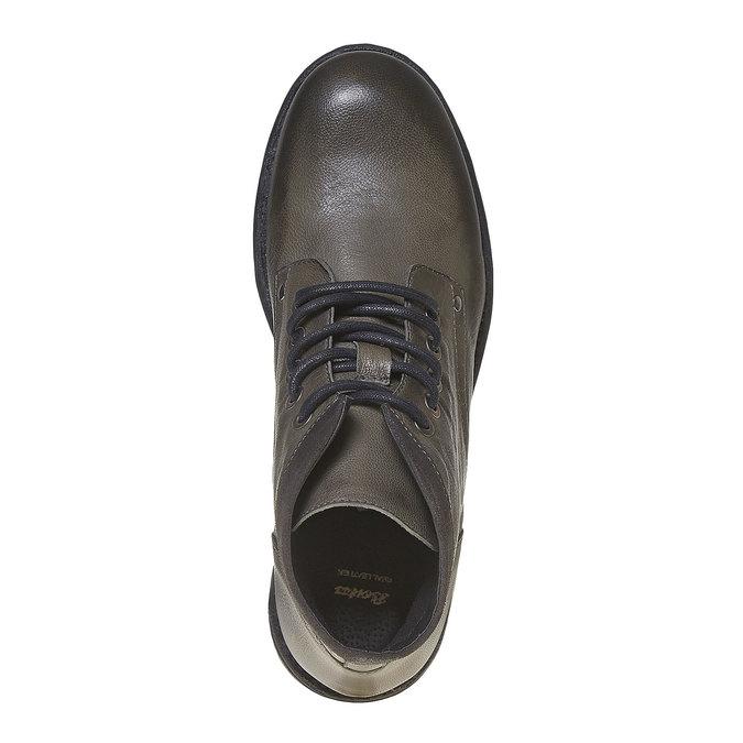 Chaussure montante en cuir pour homme bata, Gris, 894-2704 - 19