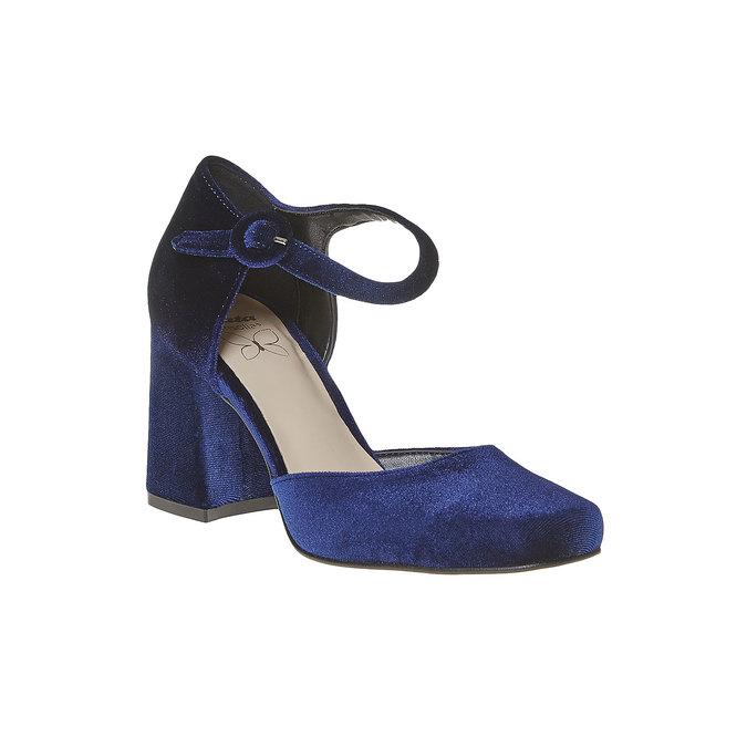 Escarpin femme ouvert sur les côtés bata, Bleu, 729-9177 - 13