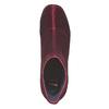 Bottine en velours bordeaux bata, Rouge, 799-5643 - 19