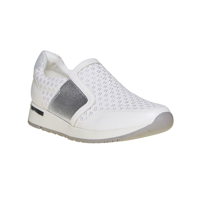 Tennis femme sans lacets north-star, Blanc, 531-1121 - 13